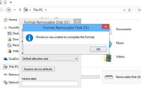O Windows Não Conseguiu Completar A Formatação