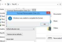 O Windows Não Conseguiu Completar a Formatação DVD