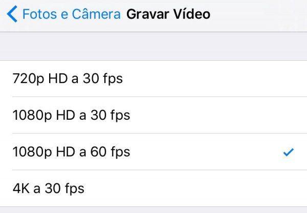 Como Alterar a Resolução De Vídeo No Seu iPhone