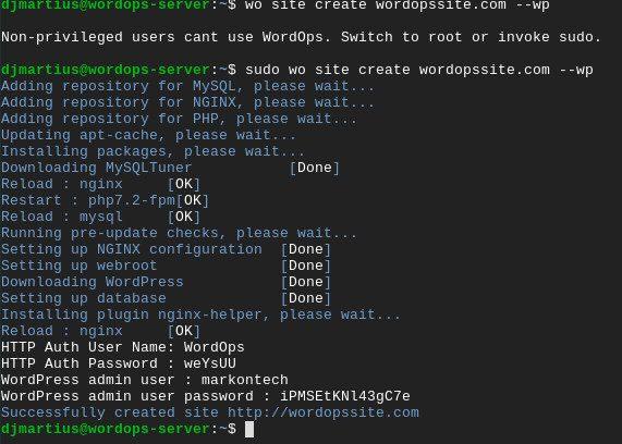 Instale o Site WordPress Rápido no Ubuntu usando WordOps